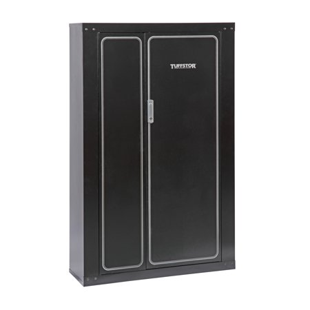 Ammo Cabinet - Tuff Stor Model 926 16 Gun Metal Security Cabinet with two doors