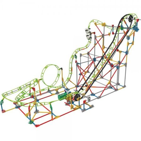 Knex Thrill Rides Double Doom Roller Coaster Building Set - Halloween Roller Coaster Minecraft