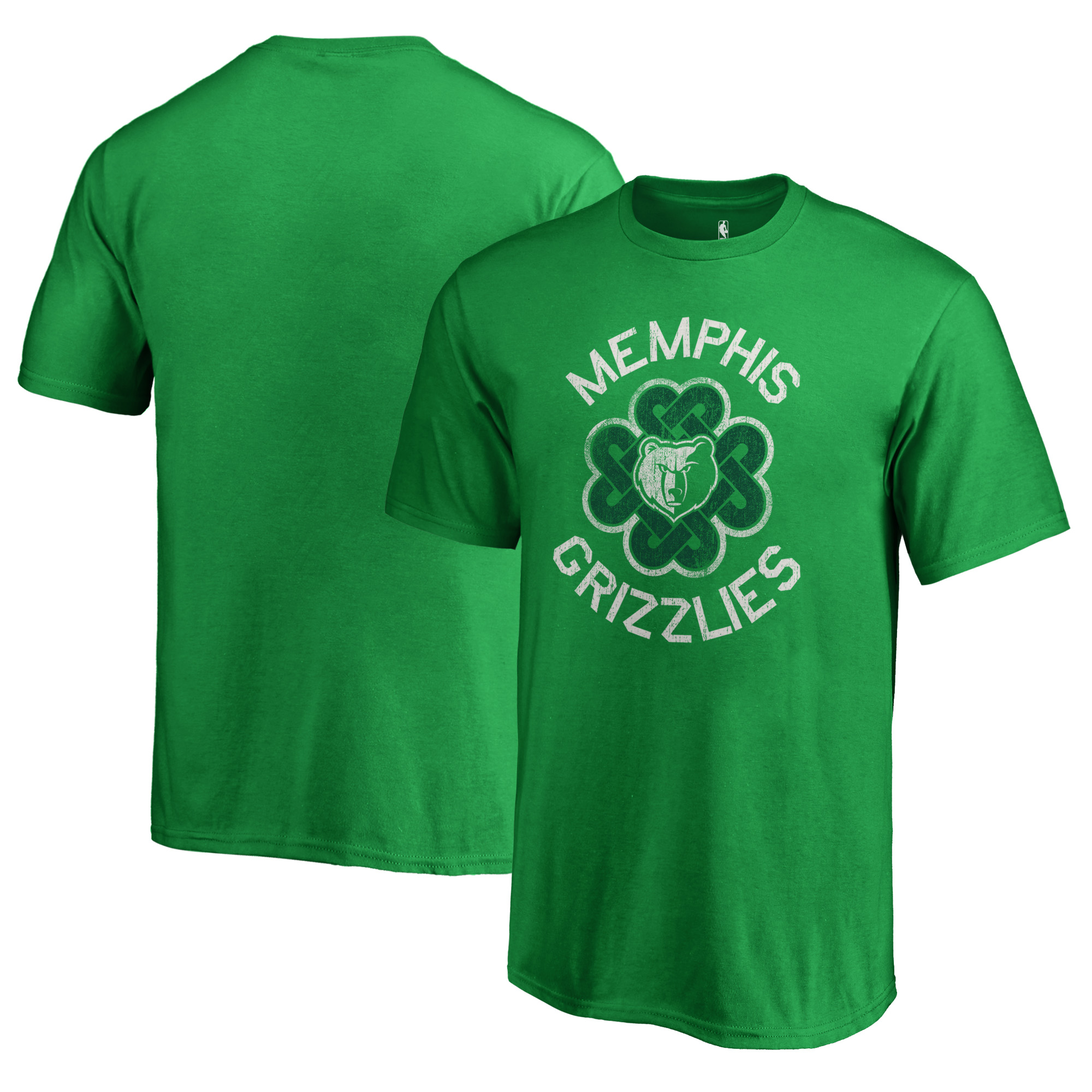 Memphis Grizzlies Fanatics Branded Youth St. Patrick's Day Luck Tradition T-Shirt - Kelly Green