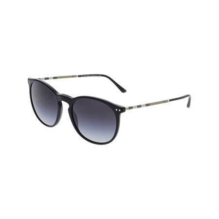 Burberry Gradient BE4250Q-30018G-54 Black Round (Burberry Men Sunglasses)