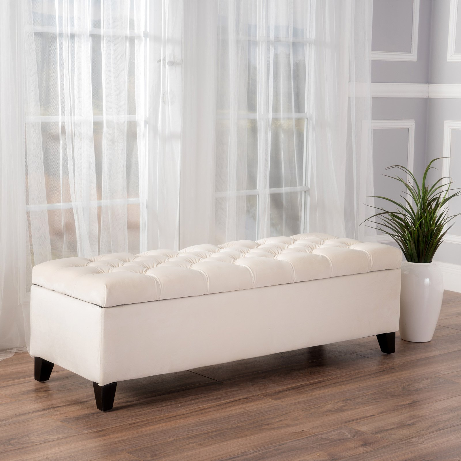 Oliver New Velvet Storage Indoor Bench