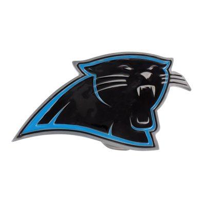 Belt Buckle Carolina Panthers White Gold Tone Nfl Football Team Logo