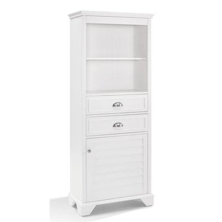 Pemberly Row Linen Cabinet in White