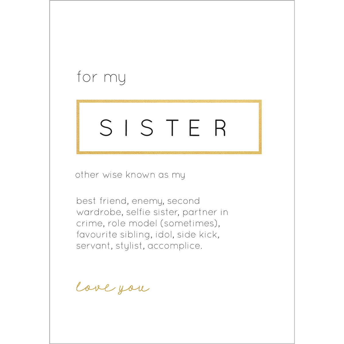 "Kaisercraft KS664 Kaisercraft Kaiser Style Greeting Card W/Envelope 5""X7"" - Sister"