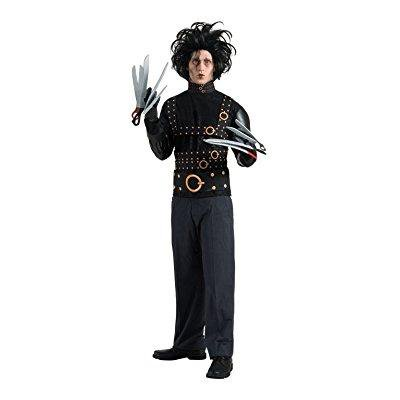 edward scissorhands deluxe costume, black, one size](Edward Scissorhands Halloween Makeup)