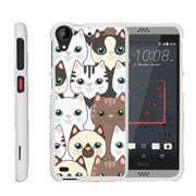 HTC Desire 530 | Desire 630, [SNAP SHELL][White] Hard White Plastic Case with Non Slip Matte Coating with Custom Designs - Cute Kittens