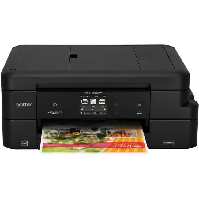 Brother MFC-J985DW XL Inkjet Multifunction Printer Color Plain Paper Print Desktop Copier Fax Printer Scanner... by Brother