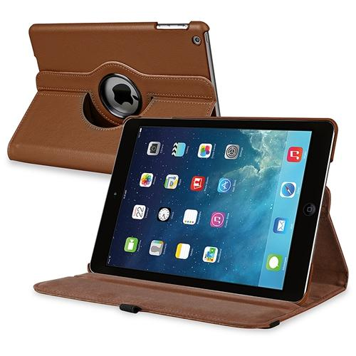 INSTEN For Apple iPad Air 360 Rotating Swivel Stand Leather Case, Brown (Supports Auto Sleep/Wake)
