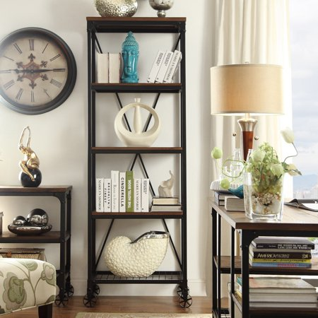 Inspire Q Nelson Industrial Modern Rustic 26 Inch Bookcase By  Classic