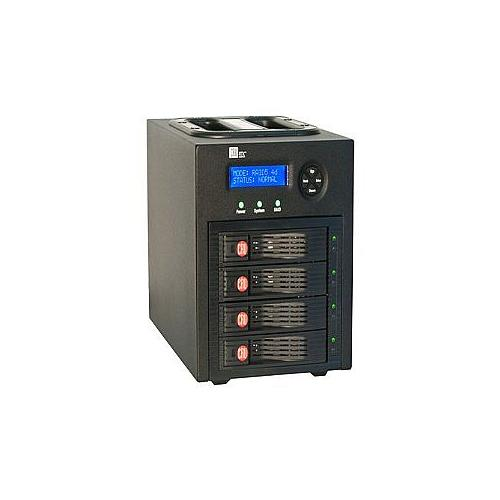 CRU DataPort RTX 430-3QR - Hard drive array - 4 bays ( SATA-600 ) - 0 x - FireWire 800, SATA 3Gb/s, USB 3.0 (external)