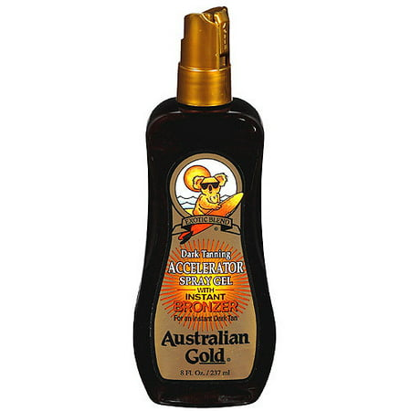 Australian Motorcycle (Tanning Oil Accelerator Spray Gel with Instant Bronzer Australian Gold Exotic Dark, 8 fl oz )