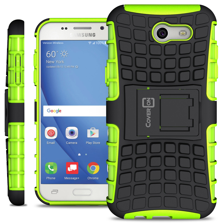 low priced cde85 d5c56 CoverON Samsung Galaxy Express Prime 2 / Sol 2 / J3 Eclipse / J3 Luna Pro  Case, Atomic Series Slim Protective Kickstand Phone Cover