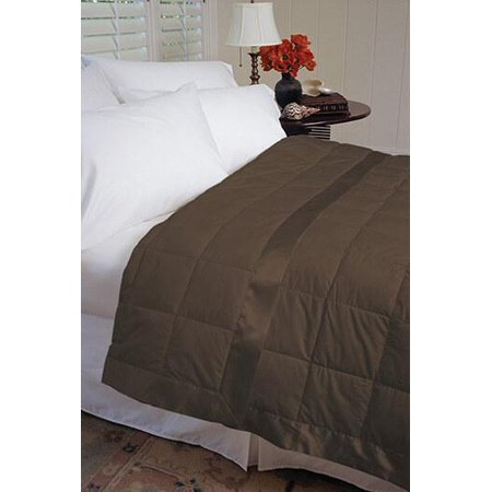 Extra-Light Summer Weight Down Blanket Chocolate /