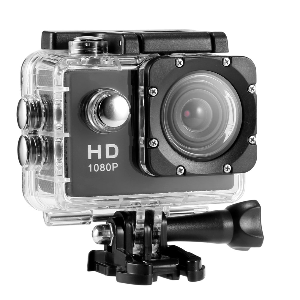 2.0 inch HD 1080P 12MP Sports Camera DV Video Camera 140 degree Wide-angle Waterproof Camera