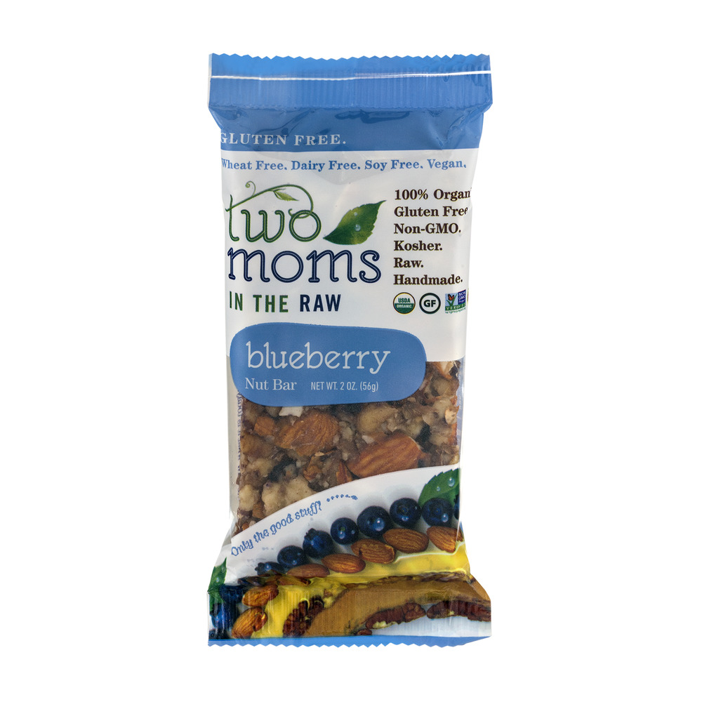 Two Moms In The Raw Gluten Free Nut Bar Blueberry, 2.0 OZ