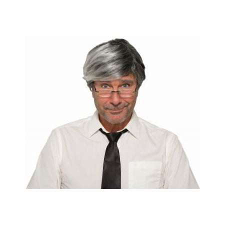 GEPETTO WIG & MOUSTACHE-GREY](Mens Wigs)