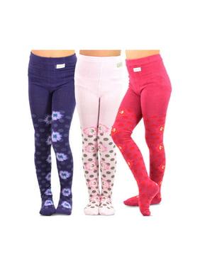TeeHee Kids Girls Fashion Cotton Tights 3 Pair Pack