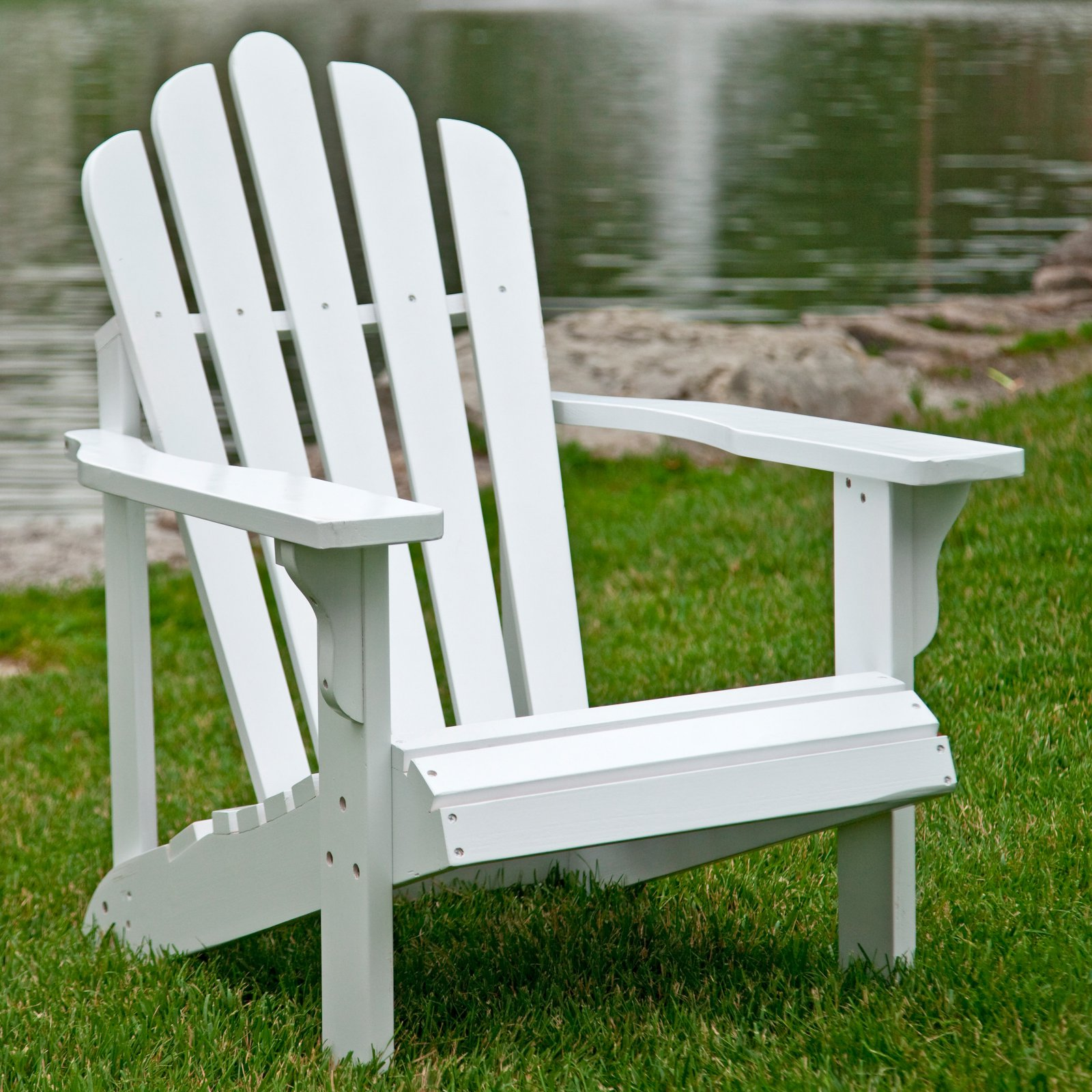 Westport Adirondack Chair, Natural Cedar Wood - White