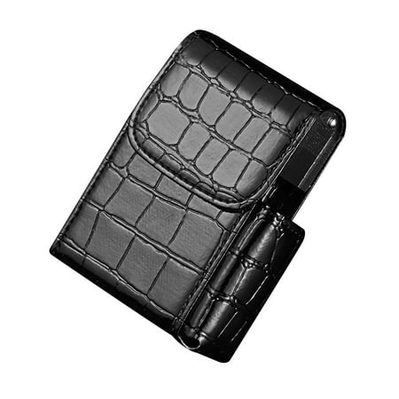 Leather Cigarette Case Flip Top Tobacco Holder Pouch Best Gift for Men Women BK