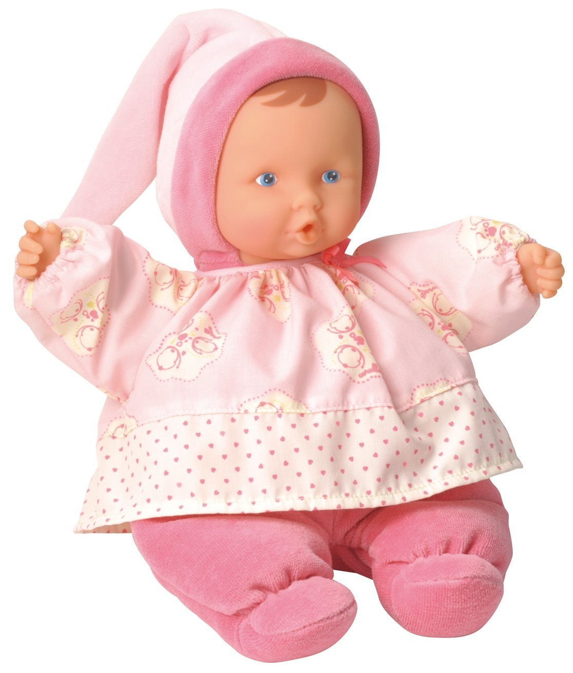 Babi Babipouce Pink Cotton Flower Doll, Soft, plush body that is easy to grasp and hold By Corolle by