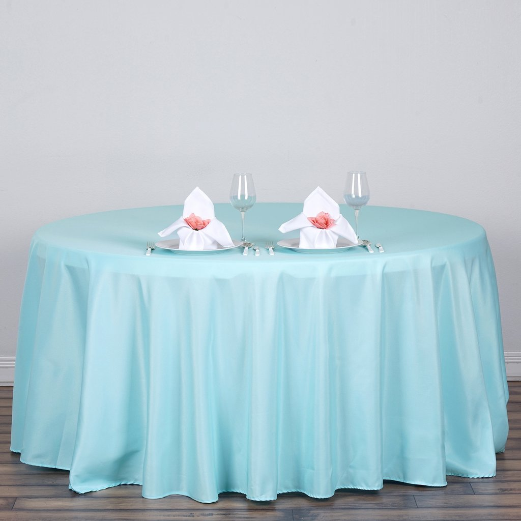 """Efavormart 120"""" Round Polyester Tablecloth for Kitchen Dining Catering Wedding Birthday Party Decorations Events"""