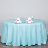 """120"""" Round Polyester Tablecloth for Kitchen, Dining, Catering, Wedding, Birthday, Party Decorations, Events by Efavormart"""