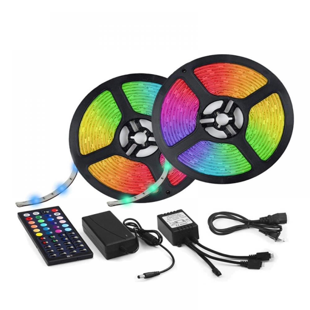 16Ft 3528//RGB waterproof SMD 300//LED Light Strip Flexible Ribbon Tape lamp DC12V