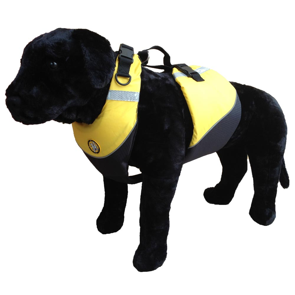 FIRST WATCH FLOTATION DOG VEST MEDIUM HI VIS YELLOW