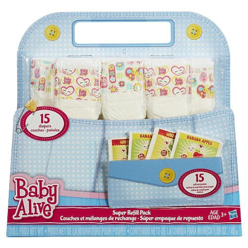 Baby Alive Doll Food And Diapers Super Refill Pack 30 Pieces Walmart Com Walmart Com