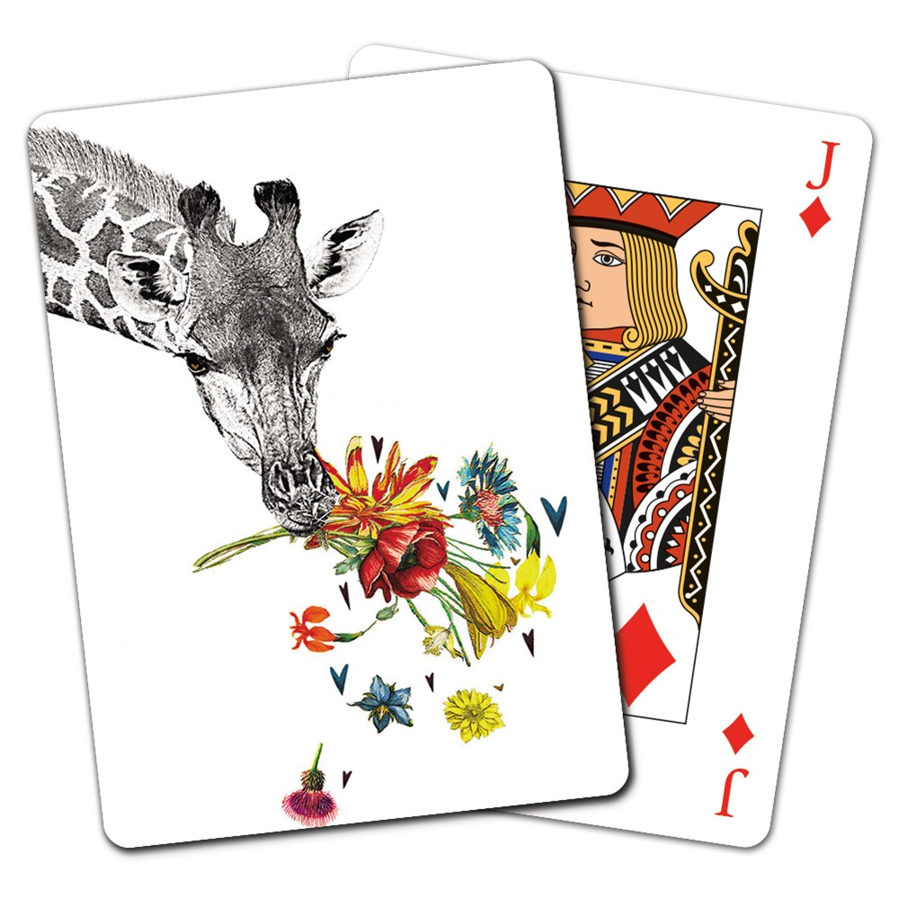 Tree-Free Greetings Checking in Giraffe Playing Cards -CD15865