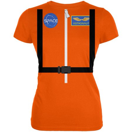 Halloween Astronaut Costume Orange Escape Suit Juniors Soft T Shirt - Halloween Escape