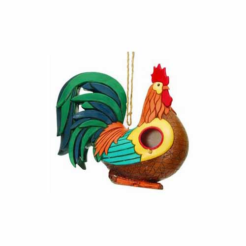 Rooster Birdhouse by Spoontiques - 10270