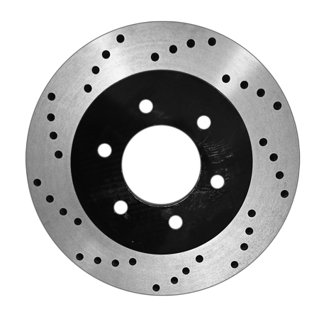 [Front E-Coat Drill Brake Rotors Ceramic Pads] Fit 00-06 GMC Yukon XL 1500 - image 2 de 2