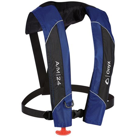 Onyx A/m-24 - Automatic / Manual Inflatable Life Jacket [pfd] - For Swimming - Universal Size For Adult - 22.50 Lb Minimum Buoyancy - Neoprene, Ripstop Nylon, Nylon Oxford Neckline (132000-500-004-15)