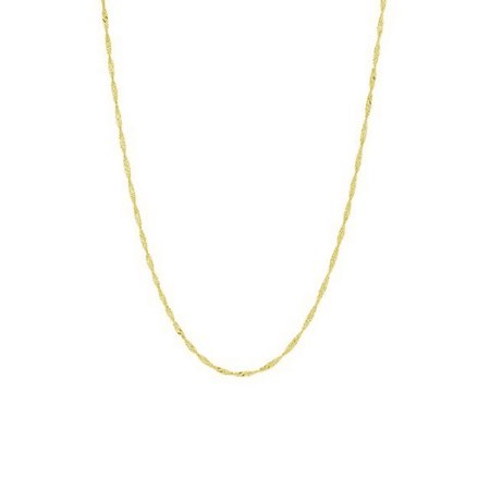 """10K 18"""" Yellow Gold 1.5mm Classic Singapore Chain with Lobster Clasp"""