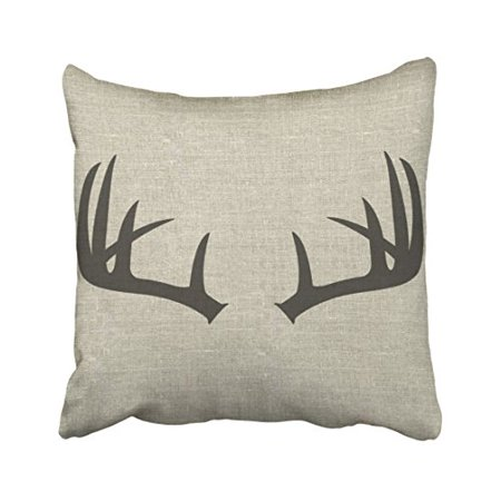 Popular Scandinavian Fashions (WinHome Simple Fashion Popular Vintage Deer Antlers Silhouette Pattern Polyester 18 x 18 Inch Square Throw Pillow Covers With Hidden Zipper Home Sofa Cushion Decorative)