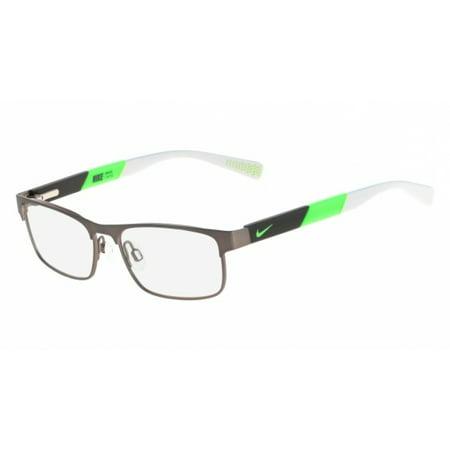 Nike NIKE 5574 Eyeglasses 069 Brushed Gunmetal-Flash Lime Nike NIKE 5574 Eyeglasses 069 Brushed Gunmetal-Flash Lime