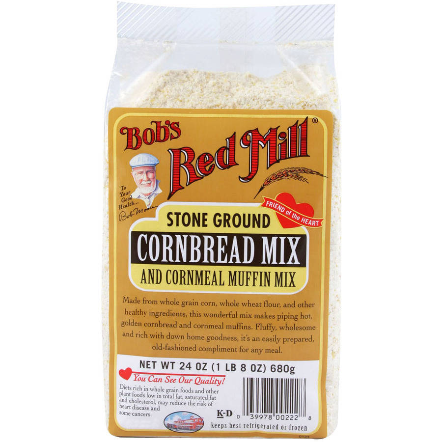 Bob's Red Mill Cornbread and Cornmeal Muffin Mix, 24 oz (Pack of 4)