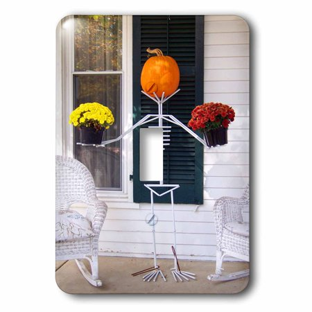 3dRose Skeleton, Pumpkin and Flower Holding Stand, Single Toggle Switch](Skeleton Pumpkin)