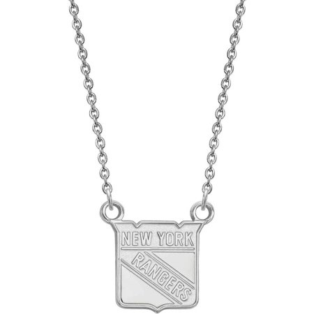 NHL New York Rangers 14kt White Gold Small Pendant with - Gold Ranger
