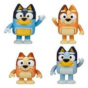 Coiry 4pcs Bluey Family Funny Figure Toys Cute Dog Doll Child Room Desktop Decor
