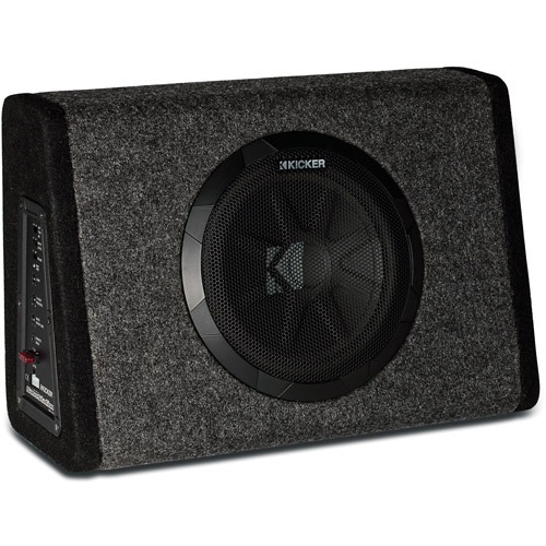 "Refurbished Kicker PT250 10"" Subwoofer with Built-In 100W Amplifier"