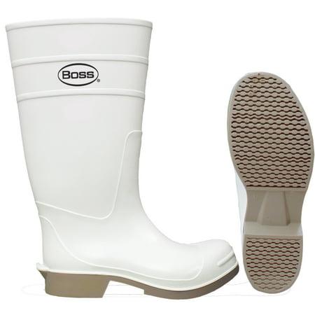 Boss® 2PP392410 PVC Over-The-Sock Knee Boot, White, 16