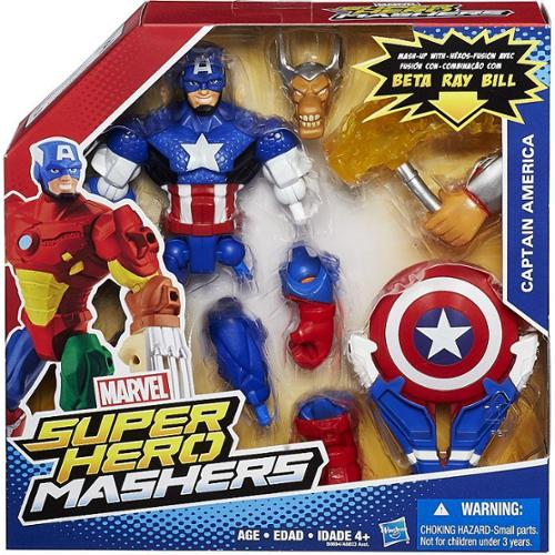 Marvel Super Hero Mashers Battle Upgrade Captain America Action Figure B0694AS00