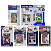CandICollectables ROCKIES814TS MLB Colorado Rockies 8 Different Licensed Trading Card Team Sets
