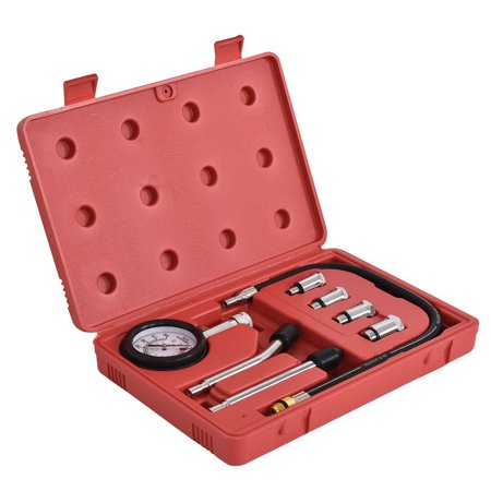 Gas Tester - 8 pcs Professional Petrol Gas Engine Cylinder Compression Tester 2.5