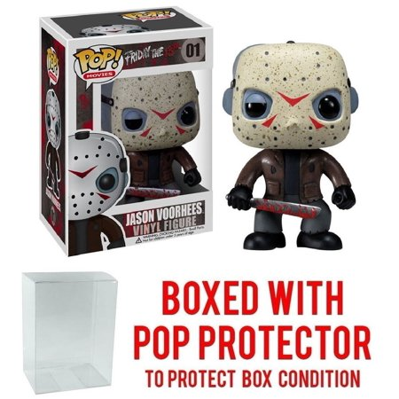 Funko Pop! Movies: Friday the 13th - Jason Voorhees Vinyl Figure (Bundled with Pop BOX PROTECTOR CASE), Bundled Plastic Box Protector with the collector.., By Pop Protector (Jason Voorhees Birthday)