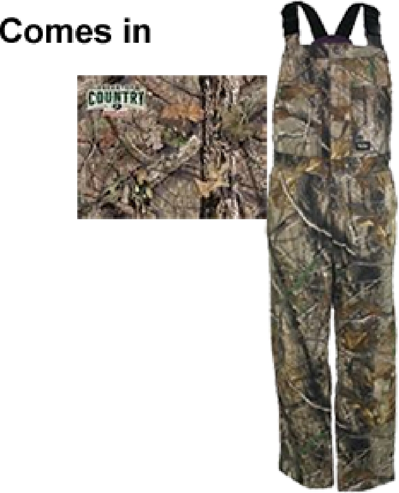 Walls Industries Womens Insulated Bibs Mossy Oak Country Small by WALLS INDUSTRIES INC