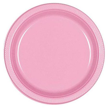 CPC B87624NB 10 in. Heavy Duty Disposable Plastic Plates, Pale Pink - Case of 200 - 10 Case of 20 - Pink Plastic Plates