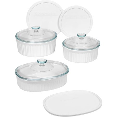 Corningware French White 9pc Bakeware Set Walmart Com